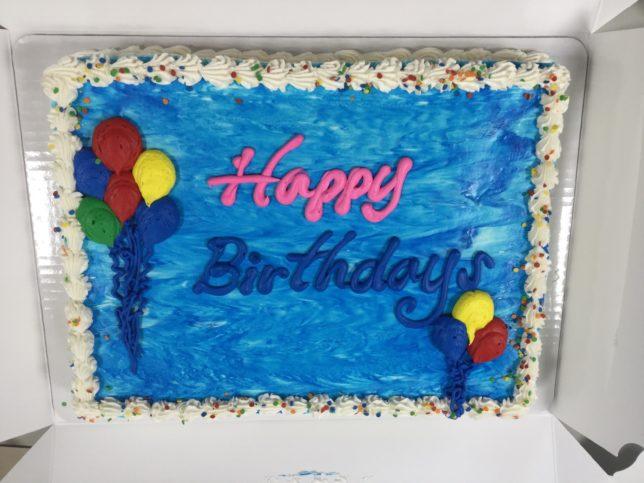 国際婦人クラブ様から誕生日ケーキ